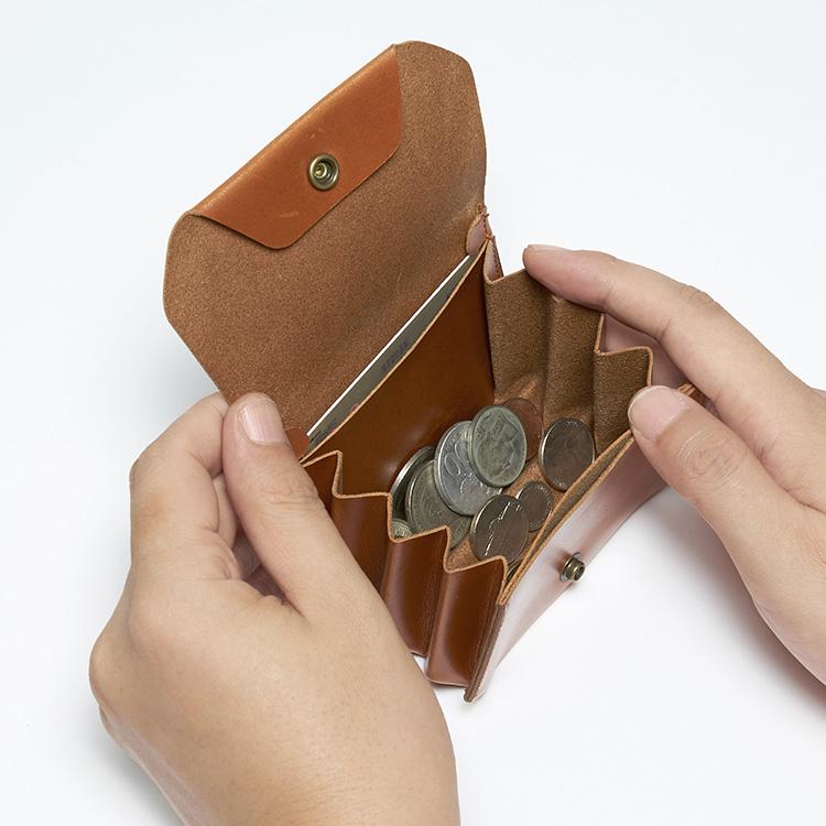 おり じゃばら M Coin Purse こぜにいれ レザー 本革 にいみ 小銭立つ