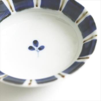 皓洋窯 ゴスサビ十草リム楕円豆皿