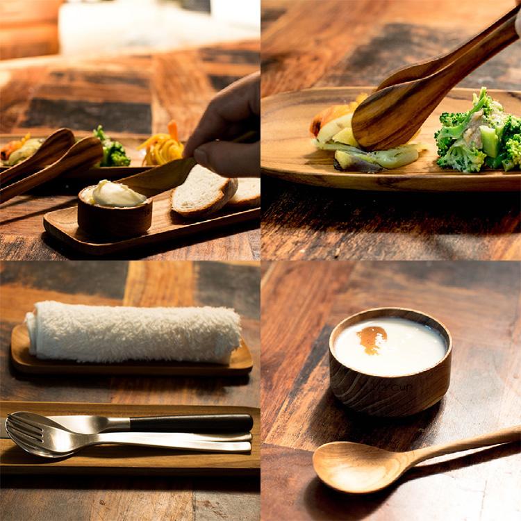 sarasa design チーク トングオーバル S Teak wood Oval Tong