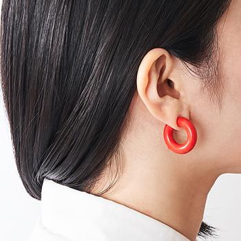acrylic GUM EARRING 2120  アクリリック ガム イヤリング 2120 あくりりっく,いやりんぐ,,いたくない ごむ ばん まさこ パーツ