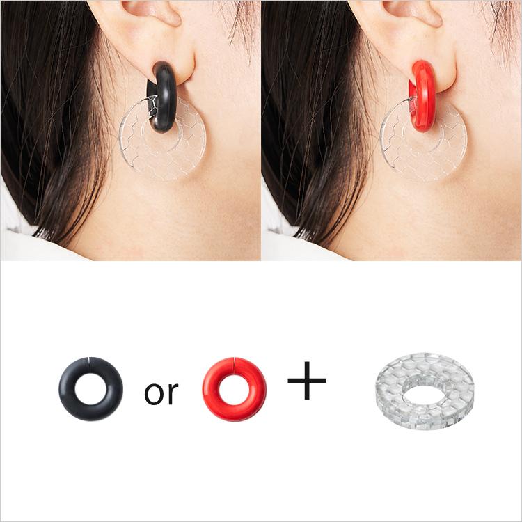 acrylic GUM EARRING 2145  アクリリック ガム イヤリング 2145 ゴム いやりんぐ アクセサリー パーツ