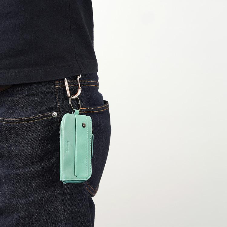 エイチエムエヌワイ  キーケース  W-113  本革 レザー かぎ収納   カード  小銭