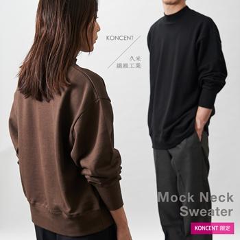 モックネック スウェット19 KONCENT×久米繊維工業