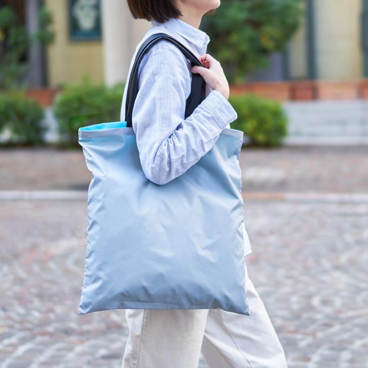 ライトショッパー ショッピングバッグ アクリリック 日本製 丈夫 軽い リバーシブル アッシュコンセプト