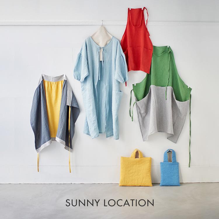 サニーロケーション,さにーろけーしょん,えぷろん,かっぽうぎ,麻,日本製,茶色,リボン,母の日,かっぽう着,国産,2way,SUNNY,LOCATION,apron,coat2way,SUNNYLOCATION,aproncoat