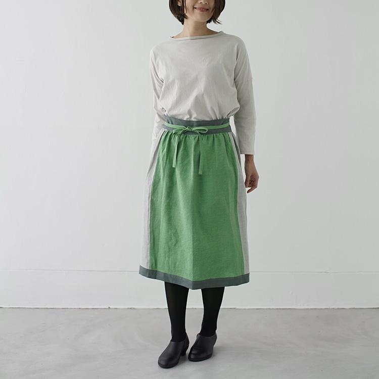 さにーろけーしょん,えぷろん,スカート,すかーと,麻,日本製,茶色,リボン,母の日,国産,2way,SUNNY,LOCATION,apron,skirt,SUNNYLOCATION,apronskirt,
