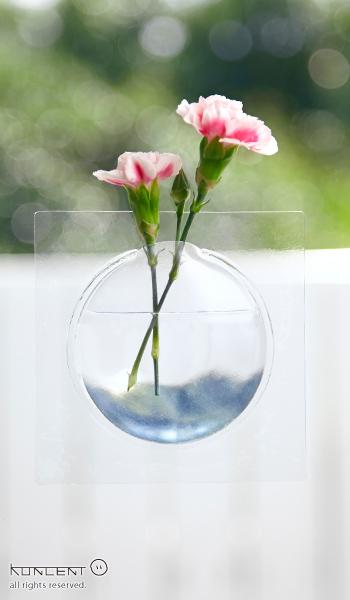 Kaki +d アッシュコンセプト 花器  ベース 透明 花瓶